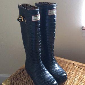 Hunter Jimmy Choo Black Rain Boots